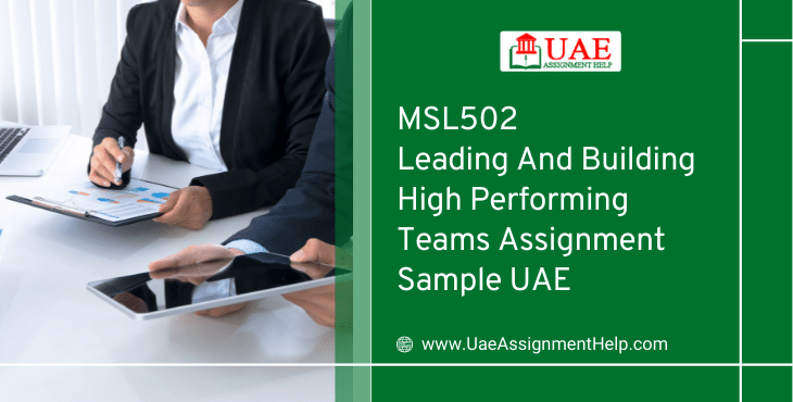 MSL502 Leading and Building High Performing Teams Assignment Solution UAE